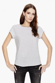 Individualisierbares Streifen T-Shirt für Damen Bio