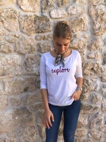 Fairtrade Sweatshirt mit Schriftzug oder Initialien bestickt
