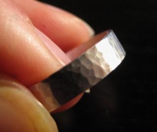 Schmiedering zart Silber