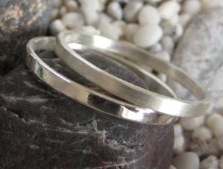 Silberringpaar zart und schlicht