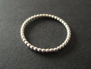 Perlring Silber Ring aus Perldraht - Handarbeit kaufen