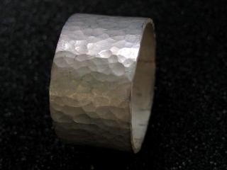 Schmiedering matt Silberring - Handarbeit kaufen