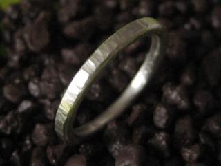 Silberring zart geschmiedet aus Runddraht - Handarbeit kaufen