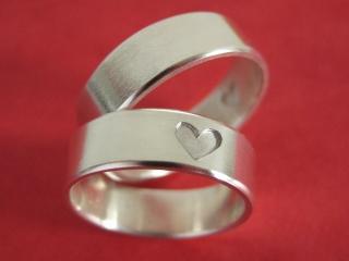 Silberringe mit Herz Silberringpaar Set