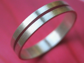 Silberring Rotes Band schmal