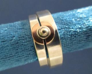 Ringpaar/Ringeset mit Kupfer und Korn Partnerringe