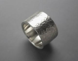 Schmiedering massiv 925/- Silber breit