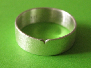Silberring -Knospe- mit gefräster Oberfläche