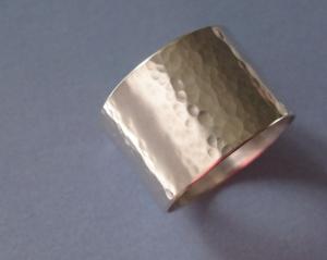 Silberring -geschmiedet/glatt- sehr breiter Ring