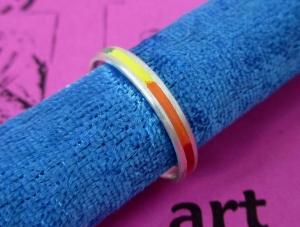 Silberring Regenbogen schmal -special- - Handarbeit kaufen