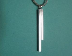 -pretty simple- Anhänger aus Silber mit Kette  - Handarbeit kaufen