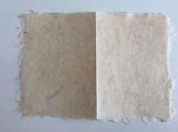 Kartenset Naturpapier, handgeschöpft,  je 5 Klappkarten und Umschläge