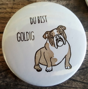 Magnet Bulldogge groß (Button)