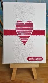 Hochzeitskarte mit Herz