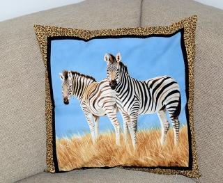 Zebra-Kissenhülle - Handarbeit kaufen