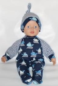 Puppenkleidung Gr.32 Strampler ,Mütze