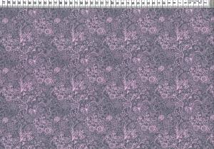 Baumwolljersey - Blumen Ornamente Grau Rosa
