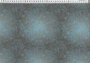 Baumwolljersey - Blumen Ornamente Braun Hellblau