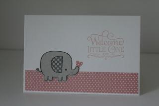 Karte zur Geburt, Baby Glückwunschkarte Elefant