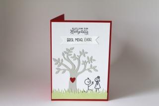 Glückwunschkarte Hochzeitstag, Grußkarte, Jahrestag, Liebe,