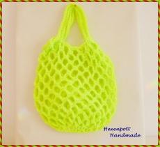 Einkaufsnetz♥  MINI Neon gelb