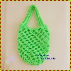 Einkaufsnetz ♥ MINI Neon grün