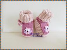 Babyschuhe Merino ca 9 cm rosa