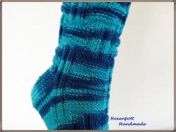 Socken aus handgefärbter Wolle Gr41-42