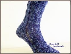 handgestrickte Socken Gr.42-43 aus handgefärbter Wolle