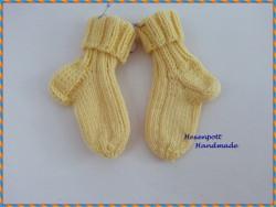 Babysocken handgestrickt ♥ Merino Gr. 17-18 gelb