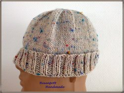 Mütze handgestrickt Wollmütze