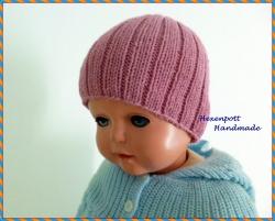 Babymütze  ♥ Frühchenmütze Merino altrosa