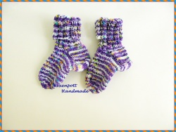 Babysocken handgestrickt ♥ mit Baumwolle Gr.18-20