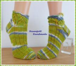 Handgestrickte Socken Schmuckrand Gr. 41-42