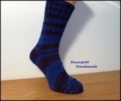 Socken handgestrickt Gr.45 aus handgefärbter Wolle
