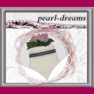 edl. Choker / Halsband / Kropfband  mit Perlen    - Handarbeit kaufen