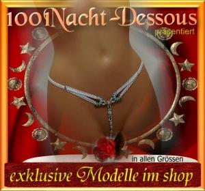 edler Perlenstring ->Luxus O-String Intimschmuck