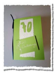 Handgemachte Geburtstags-Einladungskarte