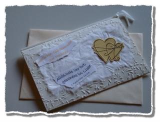 Handgebastelte Hochzeitkarte
