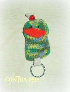 handmade Schlüsseltasche kleiner Vogel