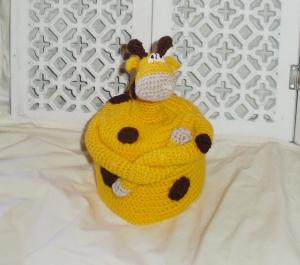 handmade Amigurumi Giraffe Klorollenhut Toilettenpapierhut