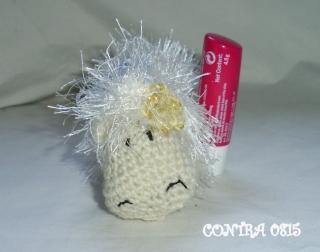 Amigurumi Labellohülle Schaf Schäfchen Schlüsselanhänger kaufen
