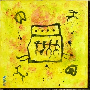 cave-man's painting I