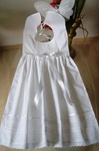 Taufe Taufaufleger Taufüberwurf  Taufkleid Baumwolle - Handarbeit kaufen