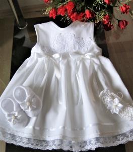 Taufkleid 3- tlg Taufe Baby*Mädchen, 62-68-74- 80-86 Festkleid ,Taufkleidung - Handarbeit kaufen