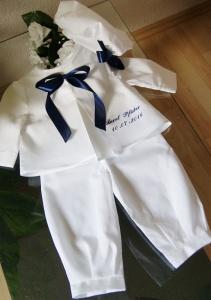 Taufanzug für Jungen und Mädchen 3-tlg. Anzug Taufe. - Handarbeit kaufen