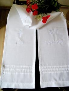 Taufschal mit Stickerei + Name+Datum Baumwolle - Handarbeit kaufen