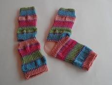 Yoga-Socken aus Baumwollmischgarn  Gr. 38/39  handgestrickt
