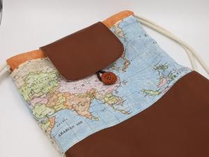 ♥ Rucksack groß ♥ Maße 44 cm x 34 cm, Shopper, Turnbeutel, Tasche, Rucksackliebe (Kopie id: 100272217) - Handarbeit kaufen