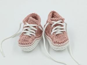 ♥ Babystrickschuhe ♥ Taufgeschenk, Geburtsgeschenk, Babygeschenk, Strickschühchen - Handarbeit kaufen